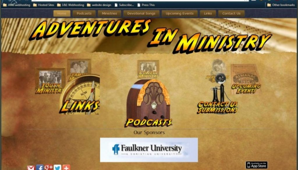 Adventures In Ministry Website