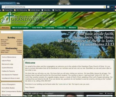Grandview Pines church of Christ website